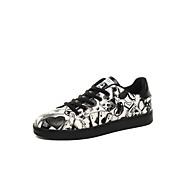 Sneakers-Mikrofiber-Komfort-Herrer-Grøn Rød Sort og Hvid-Udendørs Fritid Sport-Flad hæl