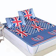 Yuxin®Printed Ice Silk Mats  Summer Cool Air Conditioning Mats  Three Sets  Ice Mats*1 Pillowcase*2  Bedding Set
