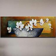 Ručno oslikana Mrtva priroda Cvjetni / Botanički Horizontalno,Moderna Europska Style Jedna ploha Hang oslikana uljanim bojama For Početna