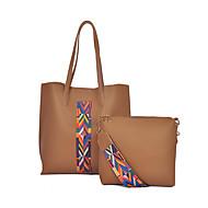 Feminino Couro Ecológico benzóico Conjuntos de saco