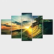 Aufgespannte Leinwandrucke Landschaft Modern Klassisch,Fünf Panele Leinwand Jede Form Druck-Kunst Wand Dekoration For Haus Dekoration