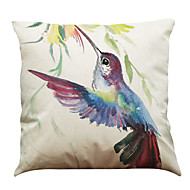Set of 6 Ink bird pattern  Linen Pillow Case Bedroom Euro Pillow Covers 18x18 inches Cushion cover