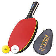 Table Tennis Rackets Table Tennis Ball Ping Pang Hout Lang handvat Puistjes 1 Tafeltennistas 1 Racket TafeltennisballenPrestatie Oefenen
