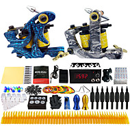 Solong Tattoo® Complete Tattoo Kit 2 Pro Machines 40 Inks Power Supply Foot Pedal Needles Grips Tips TK223