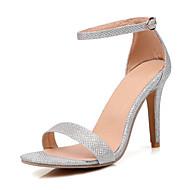 Sandály-Koženka-PohodlnéČerná Zlatá Stříbrná-Kancelář Šaty Běžné-Vysoký