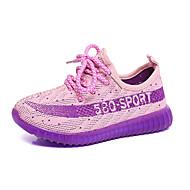 Синий Фиолетовый Красный Оранжевый-Для девочек-Повседневный-ТюльLight Up обувь-Спортивная обувь