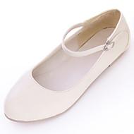 Γυναικεία παπούτσια-Χωρίς Τακούνι-Ύπαιθρος Καθημερινό Work & Safety-Επίπεδο Τακούνι-Μπαλαρίνα-PU-Μαύρο Ροζ Μπεζ
