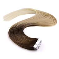 레미 인간의 머리카락 확장 T8에서 neitsi 18 ''20PCS의 36g 피부 씨실 100 % 5A 급 테이프 / 60분의 27 #