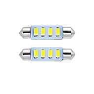 2pcs 39 milímetros LED festão cúpula lâmpada de luz de leitura luz de matrícula branco
