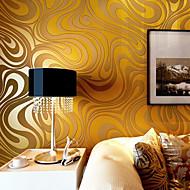 Bloemen Behang voor thuis Modern Behangen , Ongeweven papier Materiaal lijm nodig behang , Kamer wandbekleding