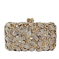 Women Bags All Seasons Metal Evening Bag with Imitation Pearl Crystal/ Rhinestone for Wedding Event/Party Formal Gold