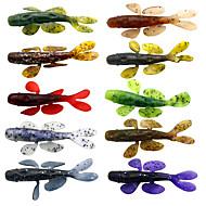 """10 יח ' פתיון רך פתיונות דיג קרוקודיל Shad פיתיון רך מבחר צבעים g/אונקיה mm/3-5/16"""" אינץ ',סיליקוןדיג בים דיג בחכה הטלת פיתיון Spinning"""