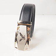 Men's leisure fashion automatic black leather belt buckle eagle pattern of heavy metals locomotive automatic agio with body is about 3.6 cm wide