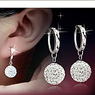 Hoop Earrings Women's Alloy Earring Rhinestone