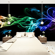 Art Deco Wallpaper For Home Wall Covering Canvas Adhesive Required Mural Colored Smoke Black Background XXXL(448*280cm)