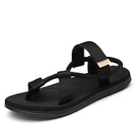 Men's Sandals Summer Gladiator PU Nylon Outdoor Casual Flat Heel Buckle