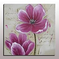 מצויר ביד טבע דומם פרחוני/בוטני מאוזן,מודרני סגנון ארופאי פנל אחד ציור שמן צבוע-Hang For קישוט הבית