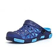 Extérieure Décontracté-Bleu Gris Marron clair Vert Armée-Talon Plat-trou Chaussures-Chaussons & Tongs-Polyuréthane