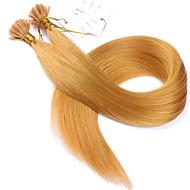 fuusio hiustenpidennykset Brasilian Remy hiukset suora 1garm / lohkon keratiini hiustenpidennykset u kärki valmiiksi liimattu hiusten väri