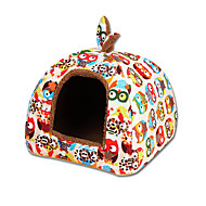 Cat Dog Bed Pet Mats & Pads Tent Multicolor Fabric