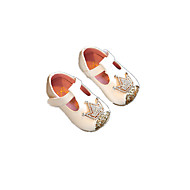 Baby Flats Spring Fall Comfort Flower Girl Shoes Leatherette Outdoor Casual Low Heel Rhinestone Magic Tape Gold Silver Pink Running