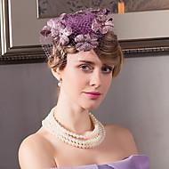 Flax Velvet Net Headpiece-Wedding Special Occasion Casual Office & Career Outdoor Fascinators Hats 1 Piece