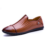 Men's Oxfords Spring Summer Fall Moccasin Cowhide Outdoor Office & Career Casual Flat Heel