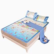 Yuxin®Printed Ice Silk Mats  Summer Mats  Air Conditioning Mats  Ice Mats*1 Pillowcase*2  Bedding Set