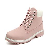 Bootsit-Matala korko-Naisten-PU-Musta Ruskea Keltainen Vihreä Pinkki Monivärinen-Ulkoilu Toimisto Rento-Uutuus