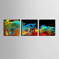 Abstract Fantasie Modern,Drie panelen Canvas Vierkant Print Art Muurdecoratie For Huisdecoratie