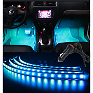 30cmx4 RGB 유연한 스트립 음악 제어 자동차 실내 분위기 라이트 발밑 조명