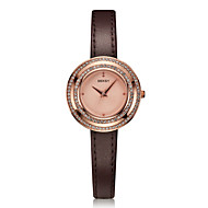 Women's Fashion Watch Water Resistant / Water Proof Quartz Genuine Leather Band Casual Brown