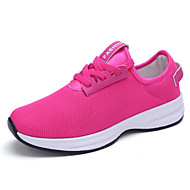 Черный Белый Светло-зеленый Розовый-Женский-Повседневный-Тюль-На плоской подошве-Пара обуви-Спортивная обувь