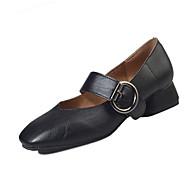 """נשים נעלי אוקספורד נוחות PU אביב קיץ קזו'אל נוחות עקב נמוך שחור בז' מתחת ל 2.54 ס""""מ"""