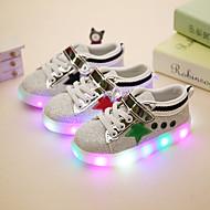 Jungen-Sneaker-Lässig Sportlich Party & Festivität-Kunststoff-Flacher Absatz-Light Up Schuhe-Schwarz Rot Grün
