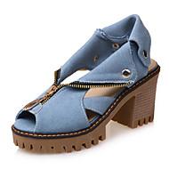 Sandaler-Kunstlæder-Komfort-Damer--Udendørs Formelt Fritid-Tyk hæl Blokhæl