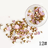 75PCS Mixed Sizes Ogival Base Glisten Crystal  Glitter Rhinestone Nail Art Decorations