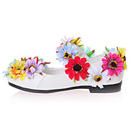 Bez podpatku-Lakovaná kůže-Pohodlné Novinky Flower Girl Boty-Dívčí-Bílá-Svatba Šaty Party-Plochá podrážka