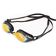 Óculos de Natação Anti-Nevoeiro Anti-Roupa Á Prova-de-Água Tamanho Ajustável Proteção UV Anti-Estilhaços Correira Anti-Escorregar Cromado