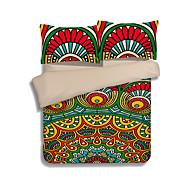 Sengesett 3 deler polyester mønster reaktiv trykk polyester bohemsk 1 stk dynetrekk 2 stk shams