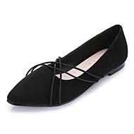Dame-Semsket lær-Flat hæl-Komfort-Flate sko-Formell-Svart Blå Burgunder