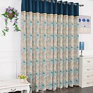 פאנל אחד טיפול חלון מודרני , פרח חדר שינה כותנה חוֹמֶר וילונות וילונות קישוט הבית For חַלוֹן