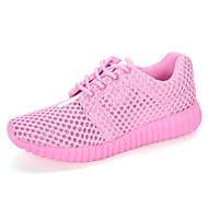Sneakers-Tyl-Komfort Lysende såler-Damer-Hvid Sort Lys pink-Fritid