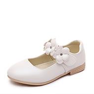 בנות-נעליים ללא שרוכים-PU-נוחות רצועה אחורית-זהב לבן ורוד-יומיומי-עקב שטוח