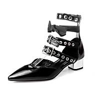 נשים-סנדלים-PU-נעלי מועדון-שחור-משרד ועבודה שמלה מסיבה וערב-עקב עבה