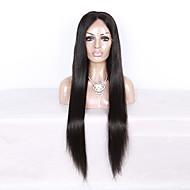 130% de densidade de cabelo virgem brasileiro peruca cheia de renda longa cabelo reto natural de cor preta peruca de laço de cabelo virgem