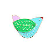 Broche Oiseau Alliage Emaillé A Motifs Animal Mode Le style mignon Bijoux Mariage Soirée Occasion spéciale Halloween Quotidien Décontracté