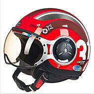 zhus motorcykel hjelm momo modellering pedal halvt hjelm retro Halley flyvende hjelm 218c