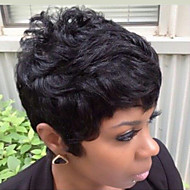 New Style Fluffy Black Short Hair Human Hair Wig Suitable For All Kinds Of People