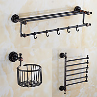 A Set of Three Products(Bathroom Shelf/Shower Basket/Towel Bar/) Of Oil Rubbed Bronze
